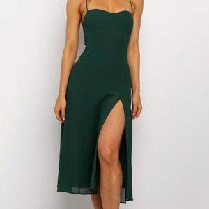 Sleeveless Sexy Backless Halter Split Dress